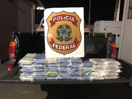 PF prende casal flagrado com 37 quilos de cocaína em tanque de combustível