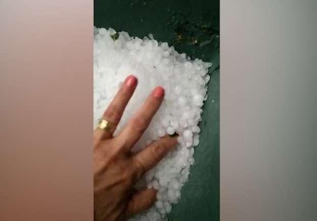 Prévia do temporal: chuva com granizo chega ao interior do Estado