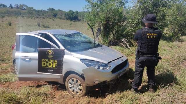 Bandido é preso após capotar veículo roubado há 5 dias em MG