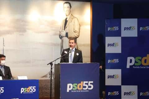Com discurso de Marquinhos, PSD lança Rodrigo Pacheco à presidência em 2022