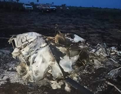 Helicóptero cai em fazenda de MS no segundo acidente em 7 dias
