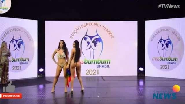 Sul-mato-grossense dá beijão em namorada no Miss Bumbum